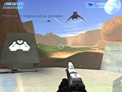 Halo PC Beta: Banshees Overhead in Blood Gulch