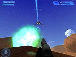 Halo PC Beta: Banshee with Fuel Rod Blast (Blood Gulch)