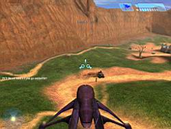 Halo PC Beta: Flying in a Banshee (Blood Gulch)